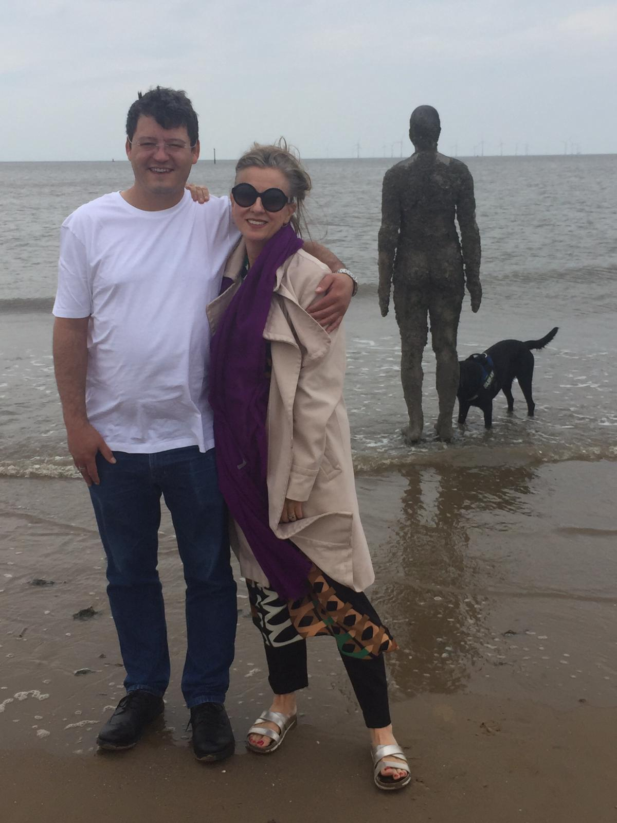 With Rebecca Caine, Crosby Beach - Liverpool