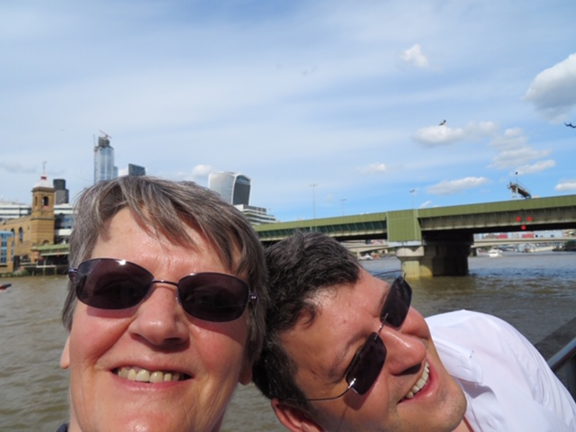 With mum on the Southbank